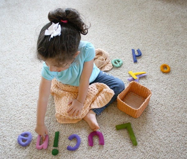 Homemade Toys: Stuffed Felt Letters