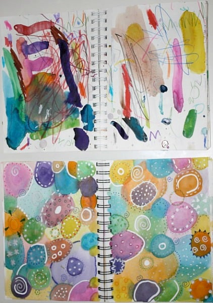 Parent-Chld Art Journals