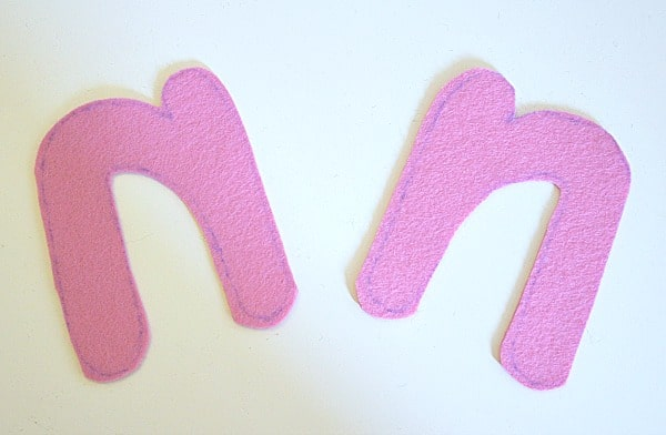 felt letter sewing tutorial