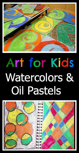 Easy Art for Kids: Using Watercolors and Oil Pastels~ Buggy and Buddy
