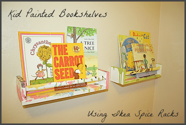 Art projects for kids: ikea bookshelf from spice racks buggy and buddy