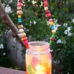 Fall Crafts for Kids: Mason Jar Lantern with Beaded Handle