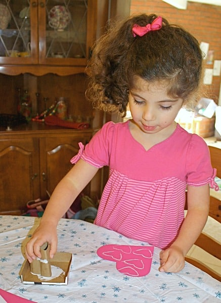 Stamping Glue Hearts
