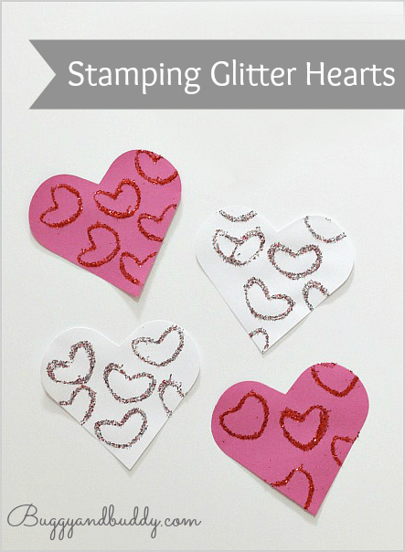 Valentine's Day Craft for Kids: Glitter Hearts
