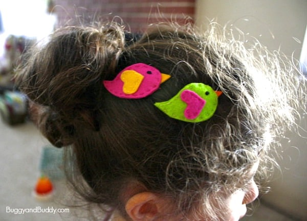 Felt Bird Hair Clip Tutorial