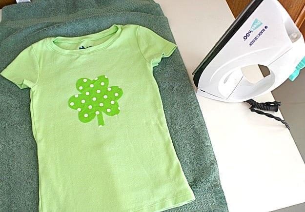 iron onto shirt