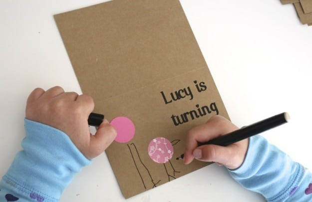 Making bird birthday invitations lucy cant wait to pass out her homemade birthday invitations next week filmwisefo
