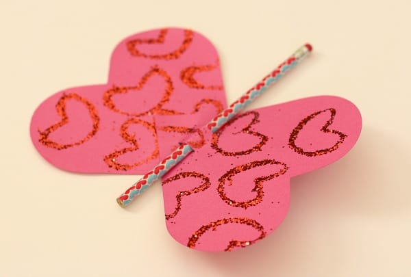 butterfly pencil valentine