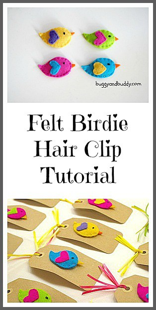birdie hair clip tutorial