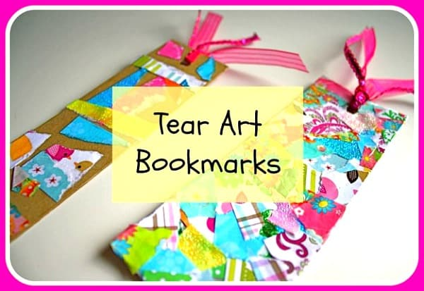 Craft for Kids: Tear Art Bookmark~ Buggy and Buddy