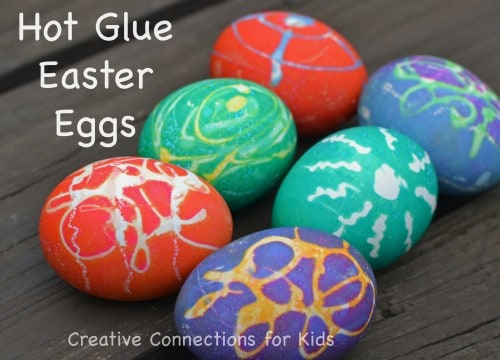 Hot Glue Eggs