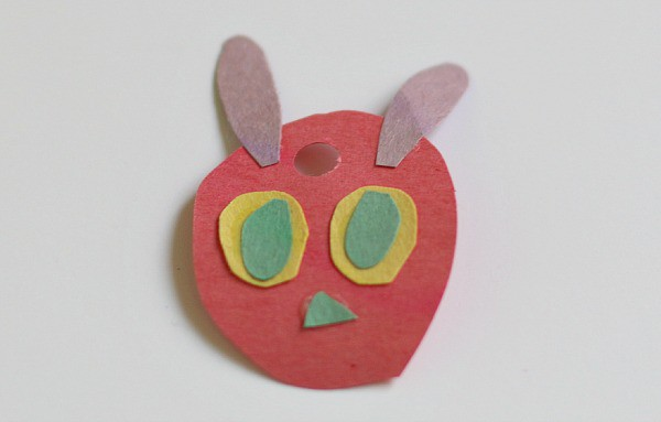 Crafts for Kids- Very Hungry Caterpillar made from construction paper