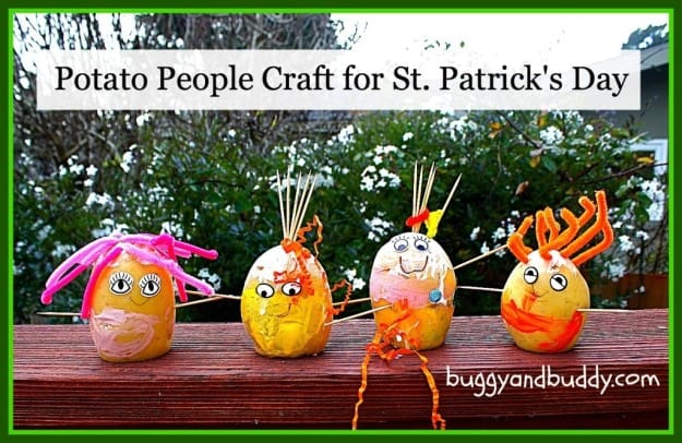 Potato People Craft For St Patricks Day