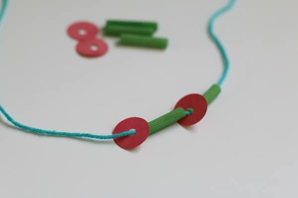 Creating The Very Hungry Caterpillar Necklace Craft for Kids