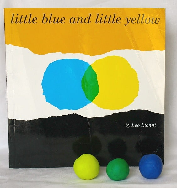 Mixing Colors with Playdough Inspired by Little Blue and Little Yellow