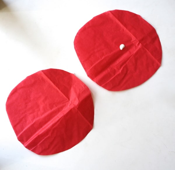 2 circles with glue