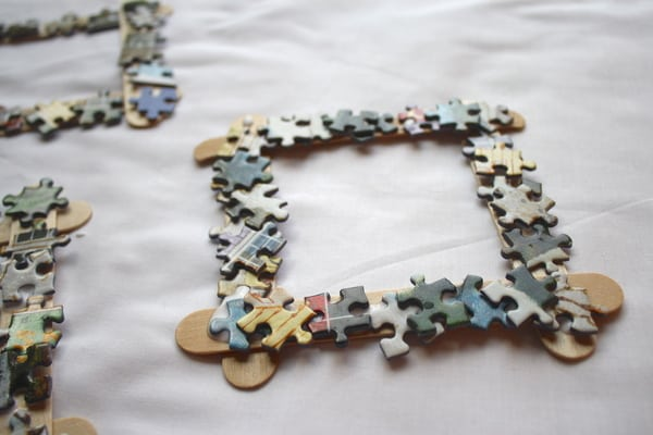 puzzle piece frame and watercolor art mother s day gift