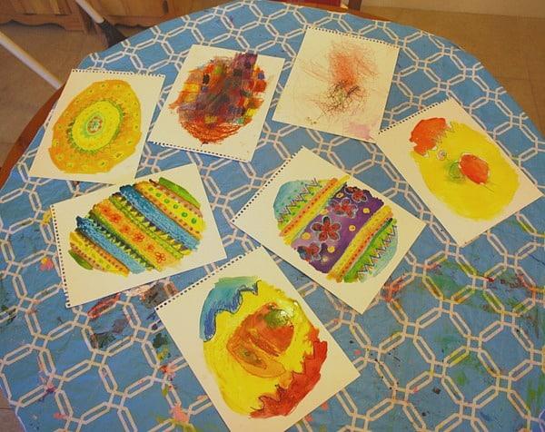 Easter Craft for Kids: Oil Pastel & Watercolor Eggs Based on the Story, Rechenka's Eggs