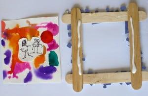 glue to frame