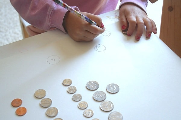 sketching coins