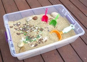 Beach Themed Sensory Box (Sensory Activities for Kids)