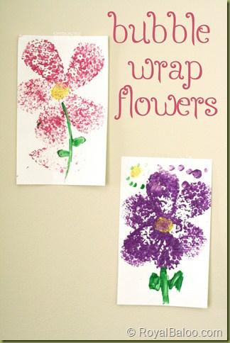 Bubble Wrap Flowers