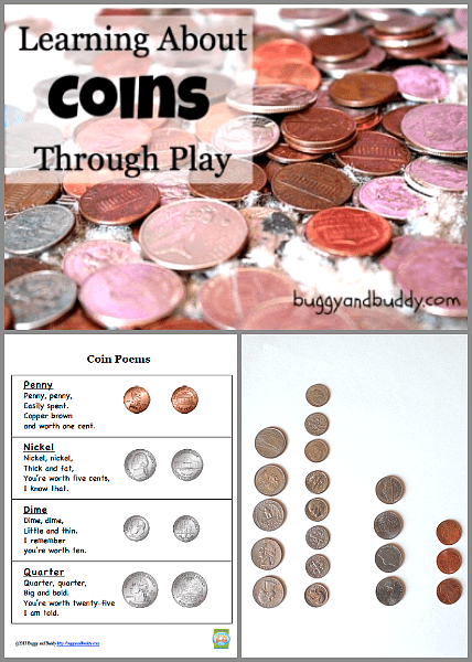 Math for Kids: Learning Coins Through Play {Free Printable
