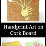 Crafts for Kids: Handprint Art on Cork Board