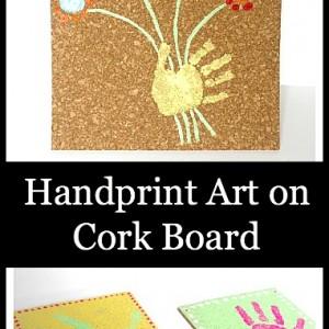 Crafts for Kids: Handprint Art on Cork Board