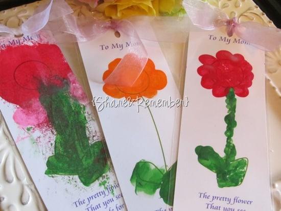 flower bookmarks