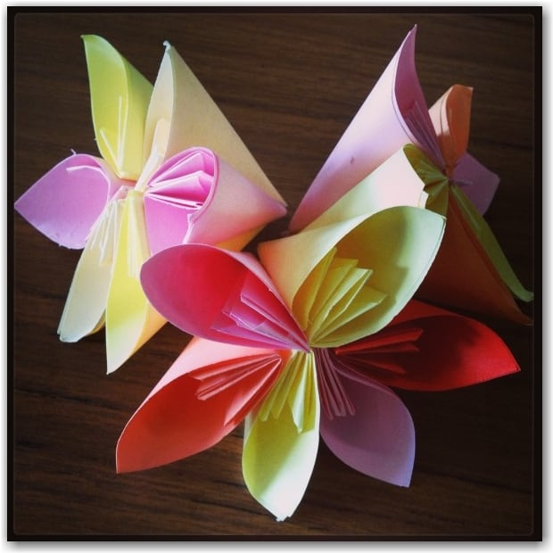 Origami Bouquet Of Roses