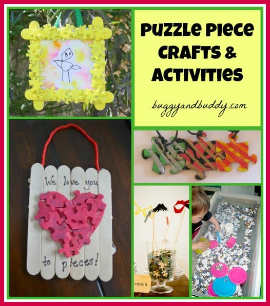 Puzzle Piece Frames Puzzle Piece Craft And