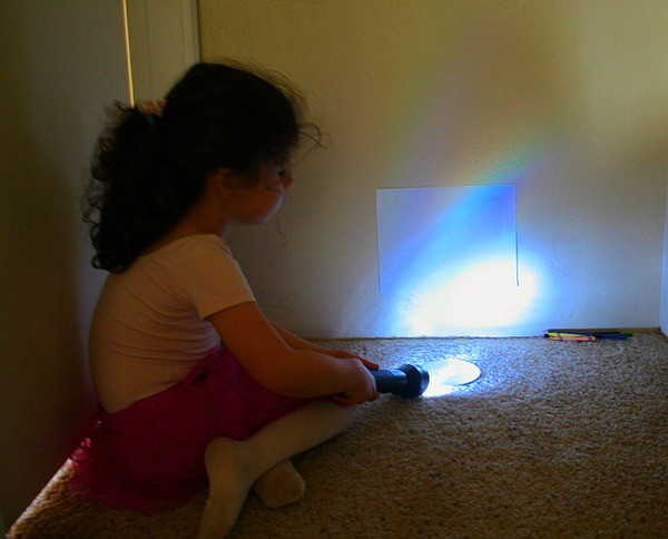 Science experiments for kids with rainbows