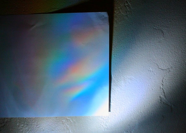 rainbow reflection science for kids