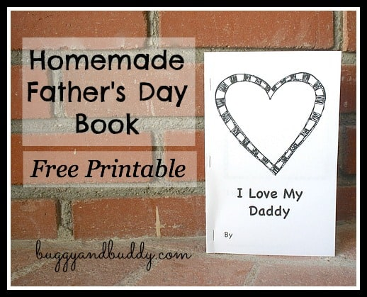 Father S Day Printables Free Book For Kids To Make Dad Buggy And