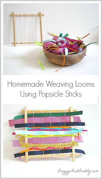 How to Make Mini Weaving Looms Using Popsicle Sticks~ Buggy and Buddy