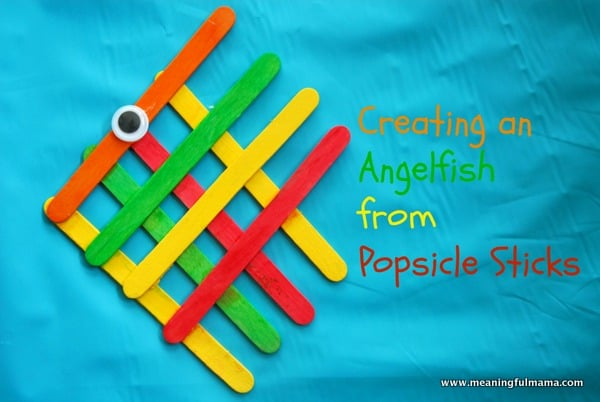 Learning playing crafts for kids using popsicle sticks buggy angelfish from popsicle sticks ccuart Image collections