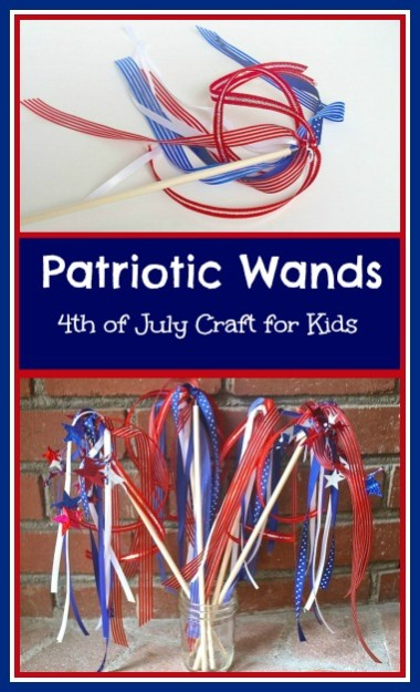 Patriotic Wand Craft for Kids- Buggy and Buddy