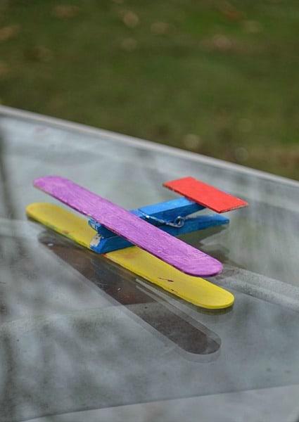 Craft-stick-plane