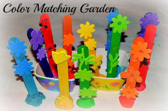Learning playing crafts for kids using popsicle sticks for Educational crafts for toddlers