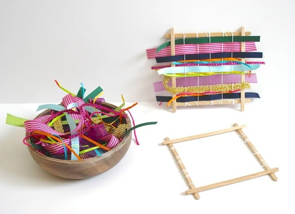 Learning playing crafts for kids using popsicle sticks buggy homemade weaving loom using popsicle sticks ccuart Image collections