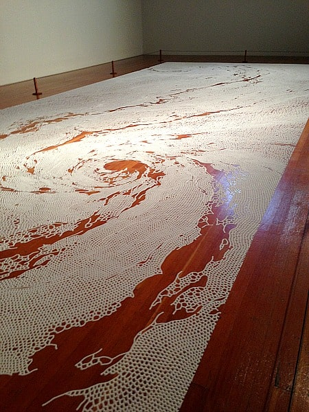 Salt Artwork- View from the floor of the gallery