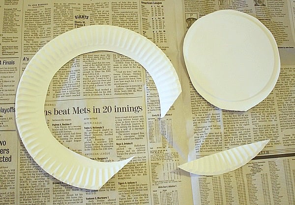 cut your paper plate