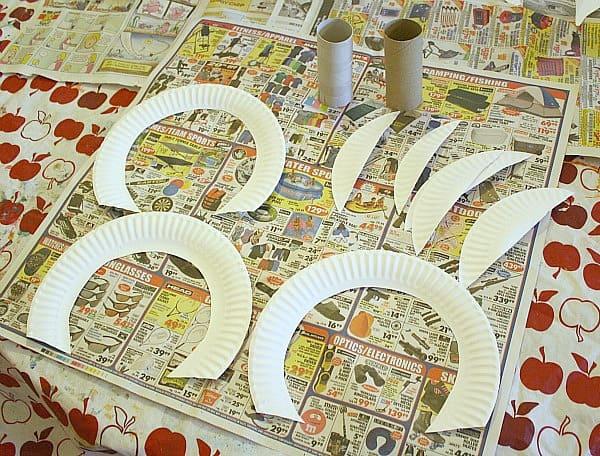 cut up paper plates