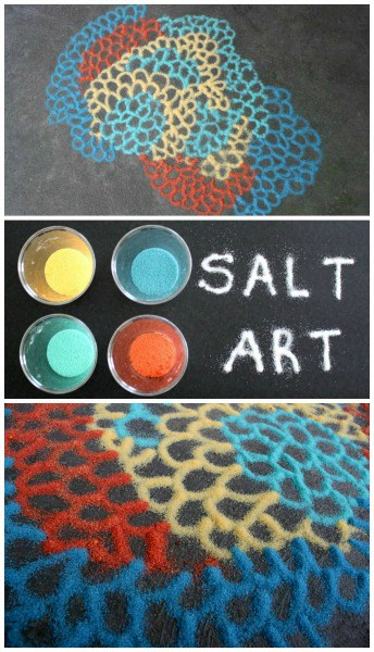 Salt Art for Kids Inspired by Motoi Yamamoto
