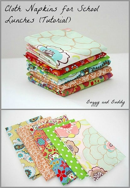 Back-to-School Craft: Make Cloth Napkins for Your Child's Lunch Box~Buggy and Buddy