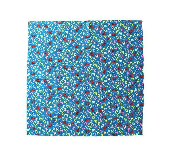 cut your fabric into a perfect square