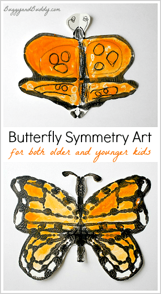 Monarch Butterfly Symmetry Art For Kids Buggy And Buddy