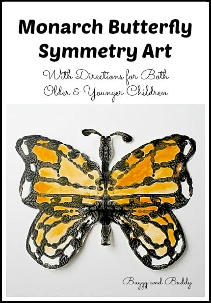 Monarch Butterfly Symmetry Art~ Buggy and Buddy