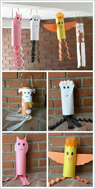 Farm animal crafts windsocks buggy and buddy for Animals art and craft for preschoolers